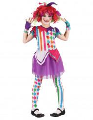 Costume da arlecchino multicolore per bambina