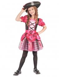 Costume da corsaro rosa per bambina