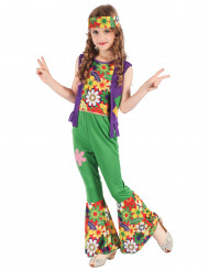 Costume da hippie flower power per bambina