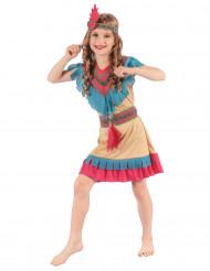 Questo costume da indiano colorato per bambina