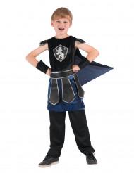 Costume da cavaliereblu e nero per bambino