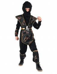 Costume ninja Drago dorato bambino