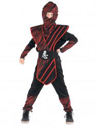 Costume ninja nero e rosso bambino