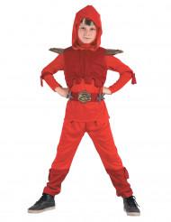 Csotume da Ninja rosso royal bambino