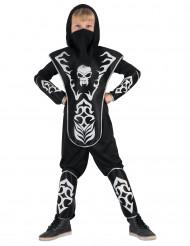 Costume ninja con teschio bambino