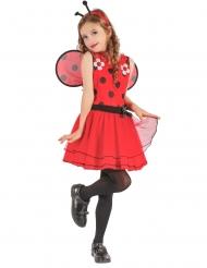 Costume da coccinella con fiori per bambina