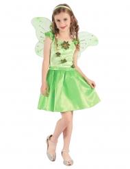 Costume da fatina verde con petali per bambina