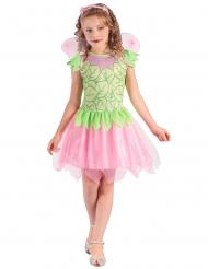 Costume da fatina rosa e verde per bambina