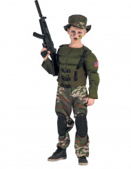 Costume soldato Americano muscoloso bambino