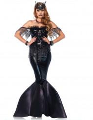 Costume sirena malefica nera Donna Premium