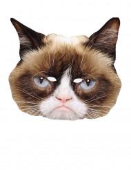 Maschera in cartone gatto imbronciato