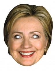 Maschera cartone Hilary Clinton