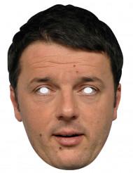 Maschera cartone Matteo Renzi