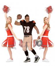 Costume di gruppo giocatore Football americano e ragazze pompon