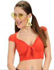 Top con nodo rosso sexy per donna