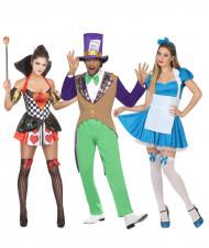 Costume di gruppo paese delle meraviglie adulti