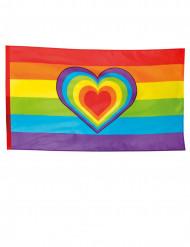 Bandiera arcobaleno con cuore