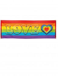 Striscione LOVE arcobaleno