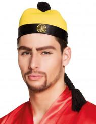 Cappello cinese con treccia