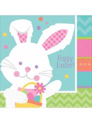 16 tovaglioli di carta coniglietto di Pasqua