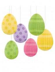 6 decorazioni da appendere Uova di Pasqua 12 cm