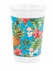 8 Grandi bicchieri in plastica Tropics 473 ml