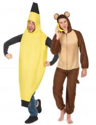 Costume di coppia banana e scimmia
