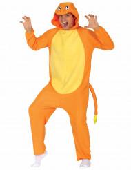Costume da piccolo roditore arancione per adulto