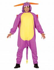 Costume drago spyro giallo e viola per adulto