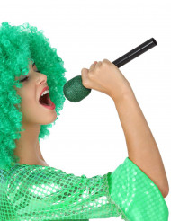 Microfono per cantante verde