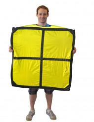Costume Tetris™ giallo pezzo O adulto Morphsuits™