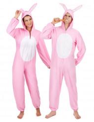 Costume da coppia coniglio rosa