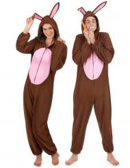 Costume di coppia coniglio marrone