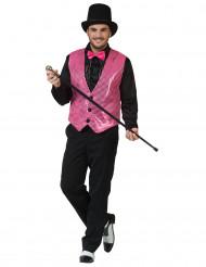 Gilet rosa con paillettes per adulto