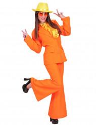 Costume abito giacca e pantalone arancione donna