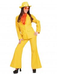 Costume abito giacca e pantalone giallo donna