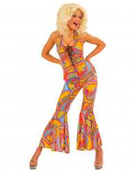 Costume intero hippie multicolore da donna