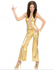 Tuta disco dorata per donna