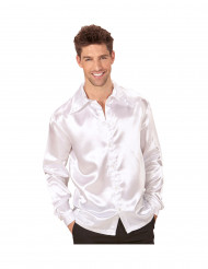 Camicia satinata bianca