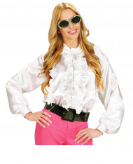 Camicia bianca con volant per donna