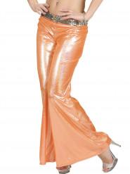 Pantalone disco olografico arancione donna
