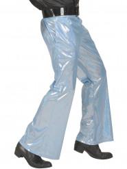 Pantalone disco olografico blu uomo
