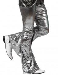 Pantaloni disco argentato uomo