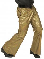 Pantaloni disco con paillettes dorate per uomo