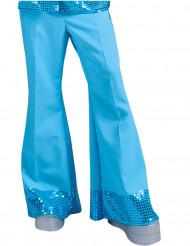 Pantalone Disco blu con paillettes uomo