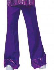 Pantalone Disco viola con paillettes uomo