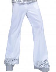 Pantalone Disco bianco con paillettes uomo