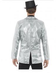 Giacca Disco argento con paillettes uomo lusso
