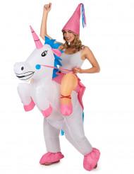 Costume gonfiabile unicorno adulto