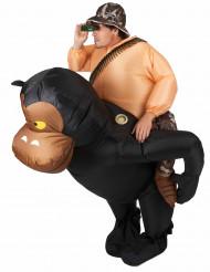 Costume scimmia gonfiabile per adulto